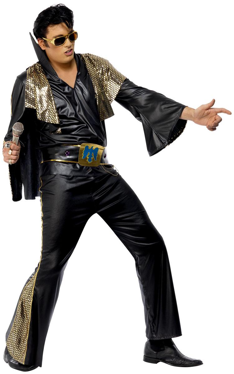 Elvis Costume Elvis Costume noir et or