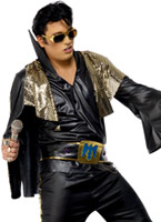 Elvis Costume noir et or Elvis Costume