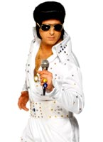 Elvis Costume blanc empierré Elvis Costume