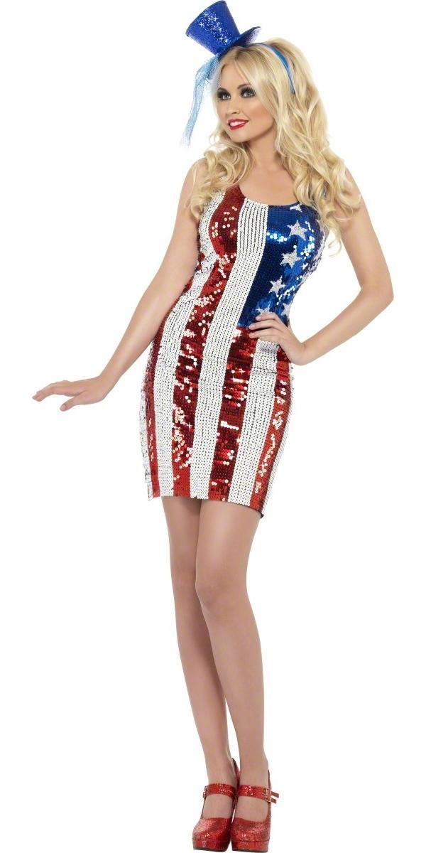 Costume américains Fièvre Amérique tout ce qui brille de Costume
