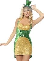 Fièvre St Paddys jour Bling Costume Costume Irlandais