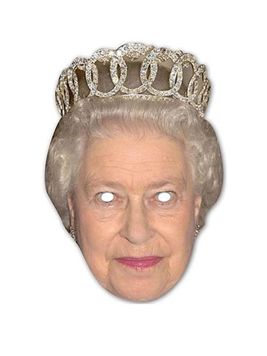Déguisement Britannique Masque de la Reine Elizabeth carte