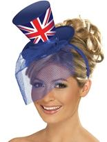 Fièvre Union Jack Mini haut-de-forme Déguisement Britannique