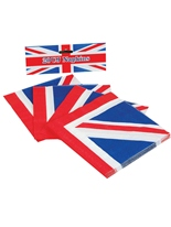 Serviettes de table Union Jack (pack de 20) Déguisement Britannique