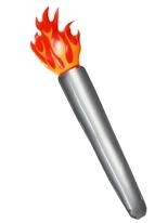 Torche enflammée gonflable Déguisement Britannique