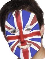 Kit de peinture pour le visage Union Jack Déguisement Britannique