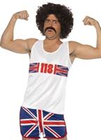 118 118 Marathon homme Costume Déguisement Britannique
