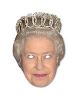 Masque de la Reine Elizabeth carte Déguisement Britannique