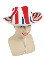 Union Jack Cowboy chapeau en feutre Déguisement Britannique