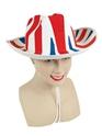 Déguisement Britannique Union Jack Cowboy chapeau en feutre