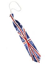 Union Jack pailleté cravate Déguisement Britannique