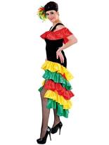 Costume Lady brésilien Déguisement Espagnol