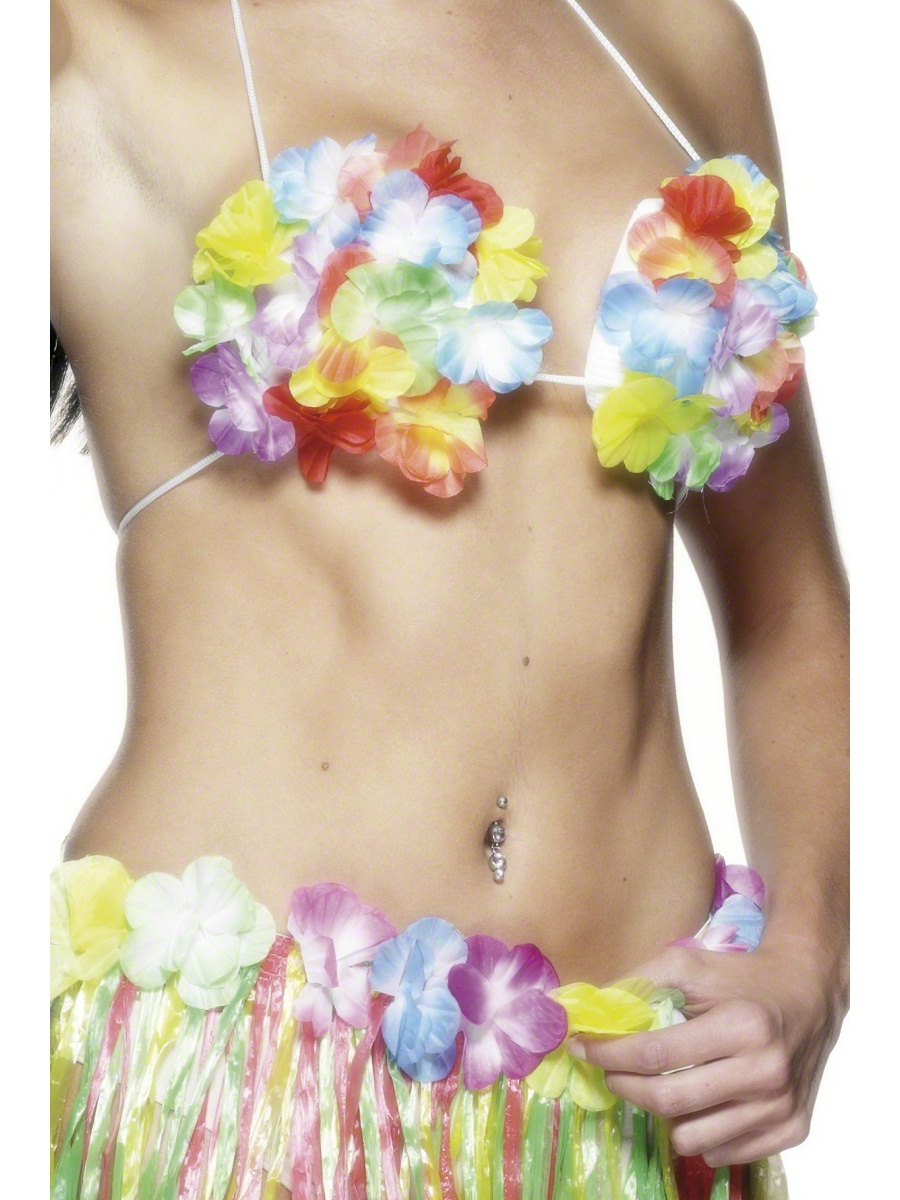 Déguisement Hawaï Soutien-gorge hawaïen fleuri