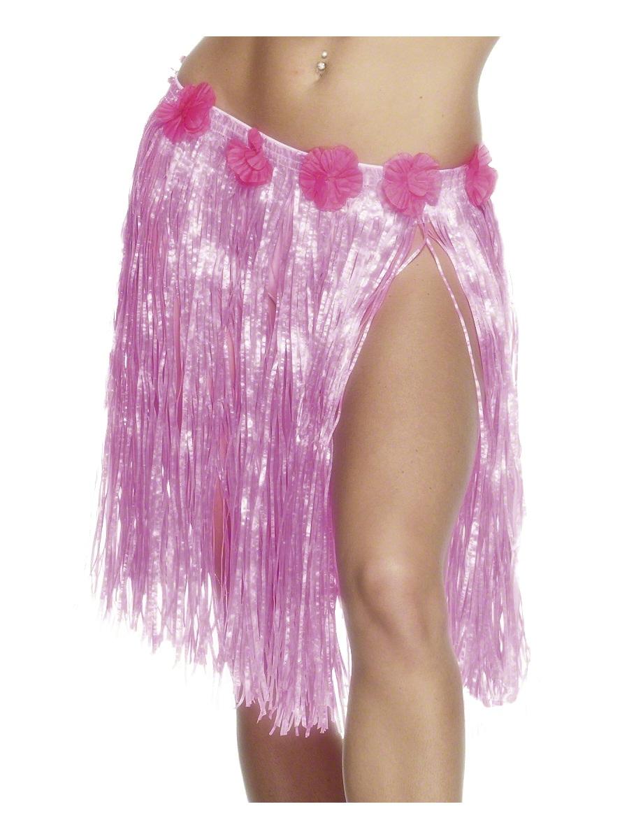 Déguisement Hawaï Hula jupe Neon Pink