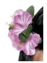 Fleur hawaïenne cheveux Clip rose Déguisement Hawaï