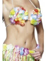 Soutien-gorge hawaïen fleuri Déguisement Hawaï