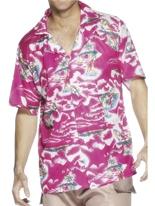 Chemise hawaïenne rose Déguisement Hawaï