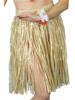 Hula jupe naturelles Déguisement Hawaï