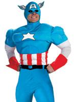 Costume Deluxe Muscle Captain America Costume Captain America