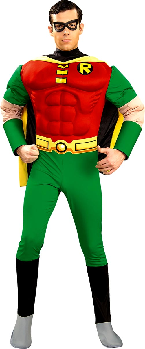 Costume de Batman Costume de luxe Robin Muscle thoracique