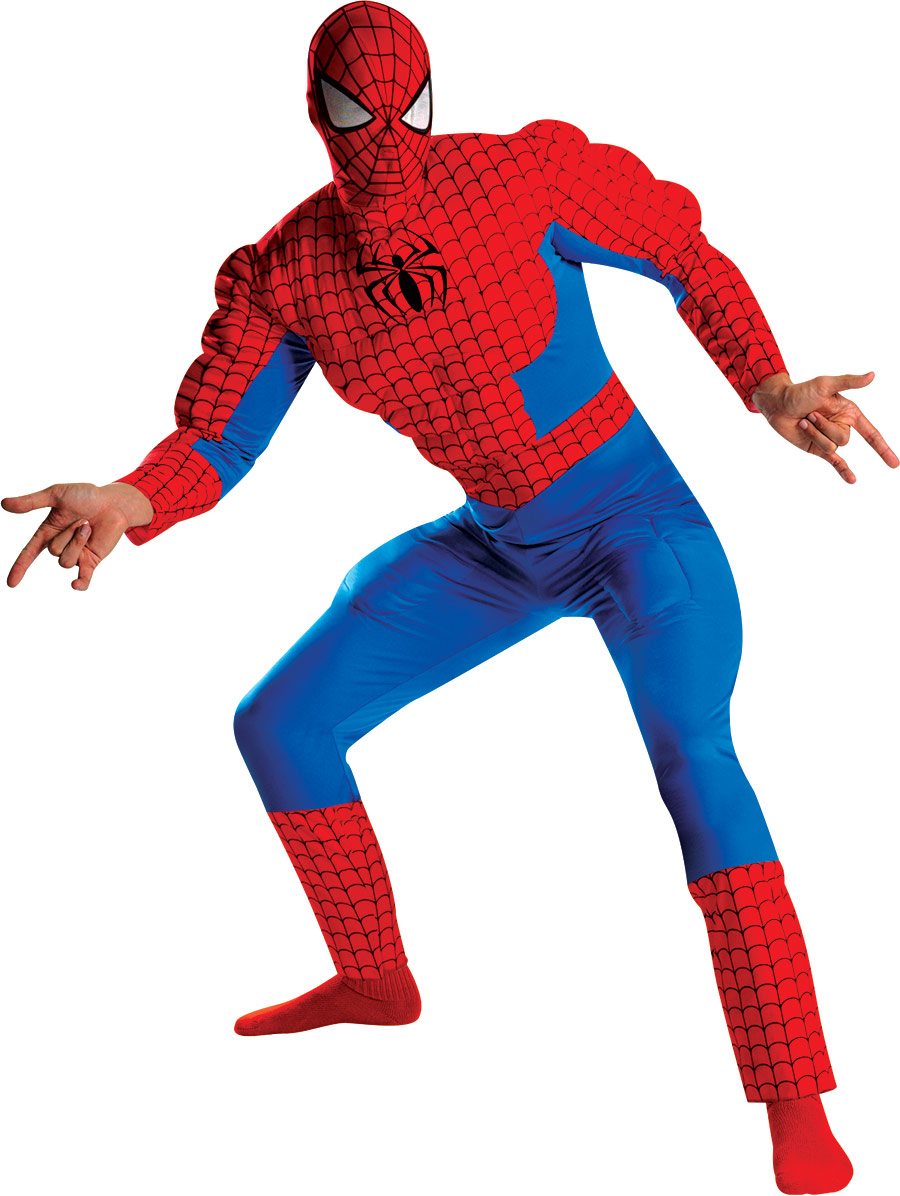 Costume de Spiderman Costume de Spiderman Muscle Deluxe