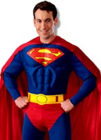 Costume de Superman Deluxe Muscle thoracique Costume de Superman
