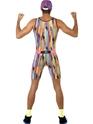 Homme Années 90 M. motivateur Costume