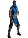 Homme Années 90 Costume de Sub Zero de Mortal Kombat
