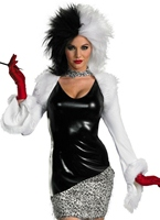 Sexy Costume de Cruella de Vil  Deguisement Disney