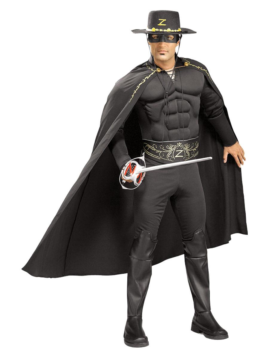Costume de Zorro Costume de luxe Zorro Muscle thoracique