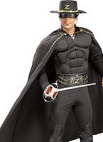 Costume de luxe Zorro Muscle thoracique Costume de Zorro