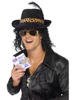 Bling Dollar argent Bill Clip Accessoire Disco