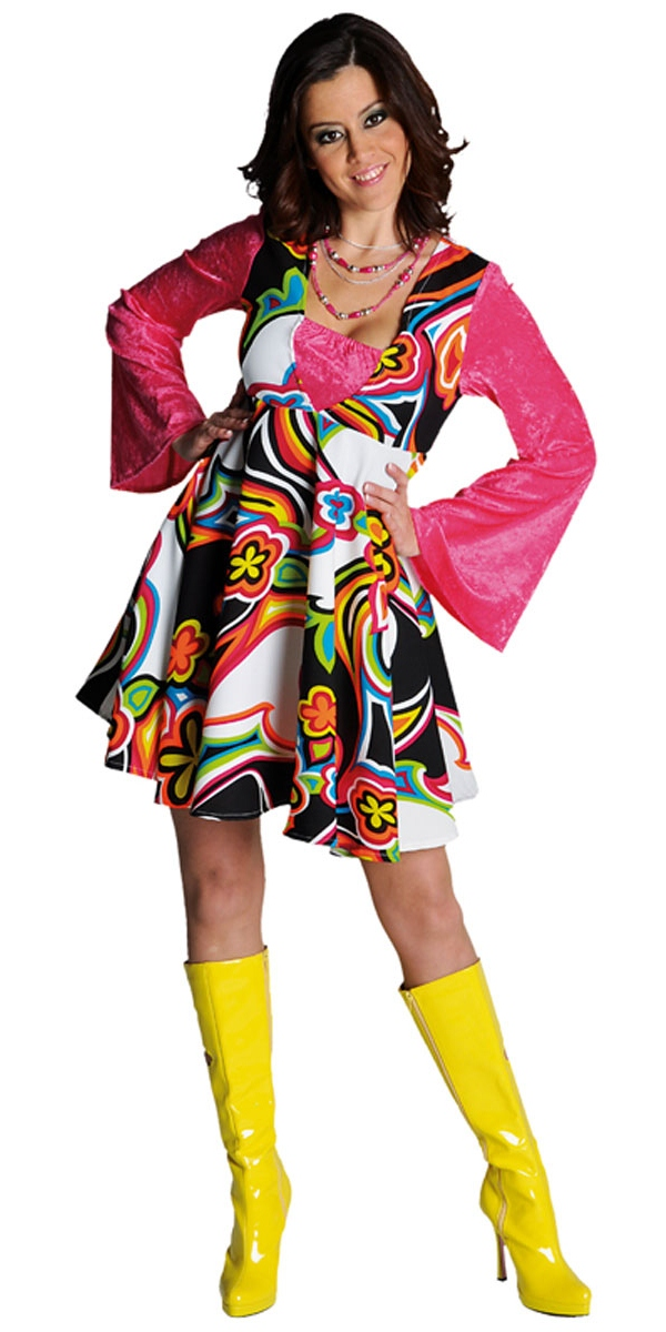Disco Deguisement Femme Costume Robe de luxe 70 ' s Fantasy
