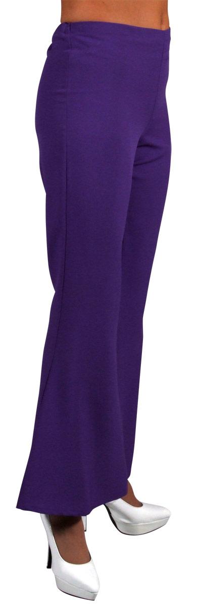 Disco Deguisement Femme 70 ' s Ladies évasés pantalon violet