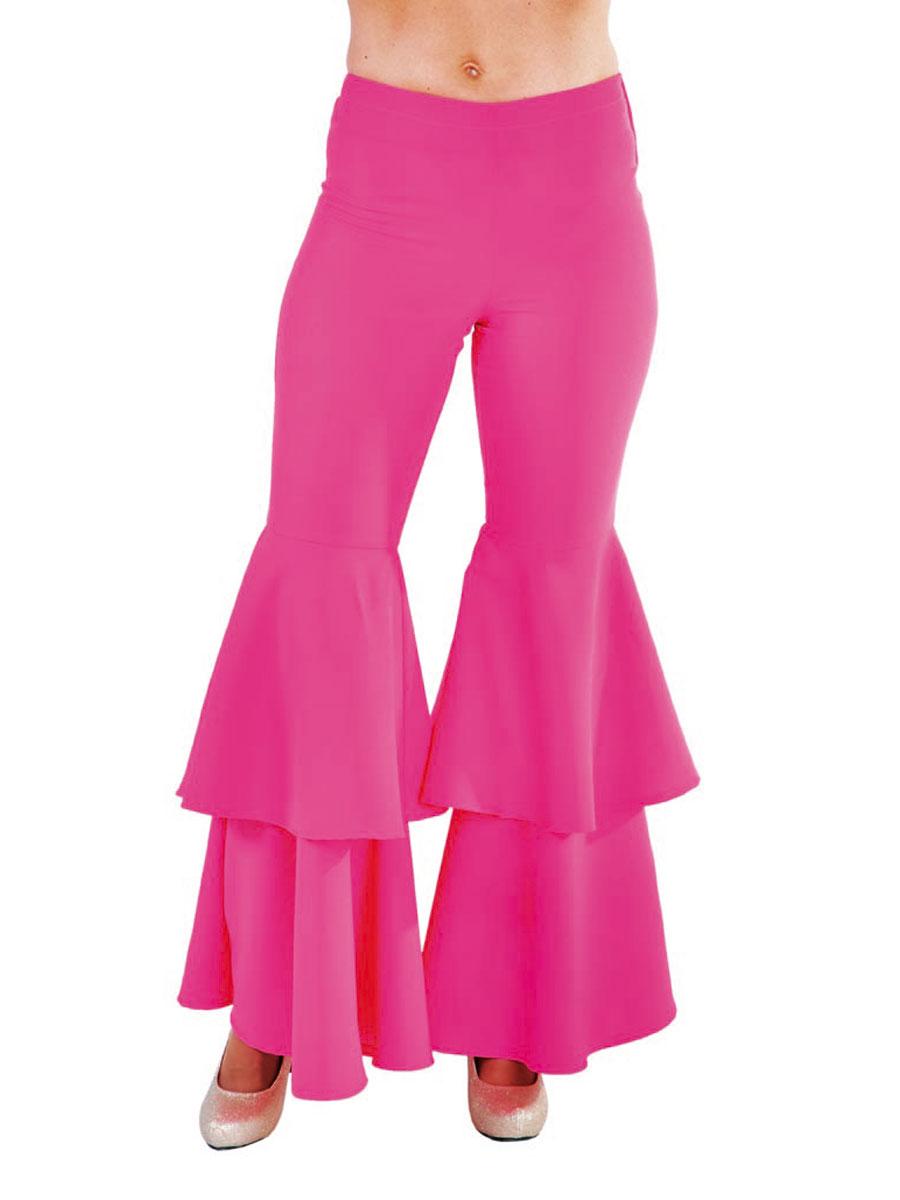 Disco Deguisement Femme Pantalons pour femmes luxe Hippie rose