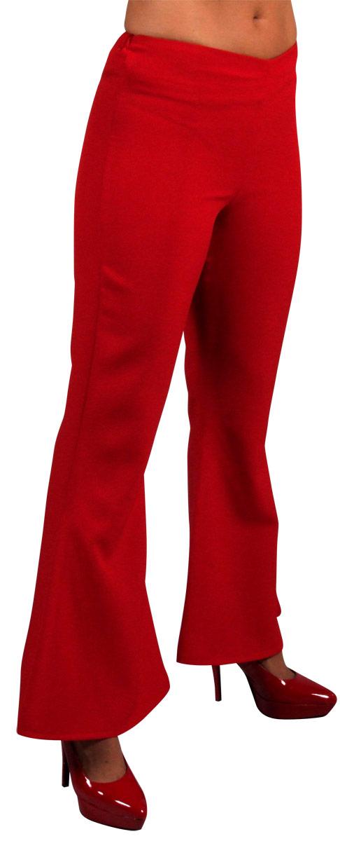 Disco Deguisement Femme 70 ' s Ladies évasés pantalon rouge