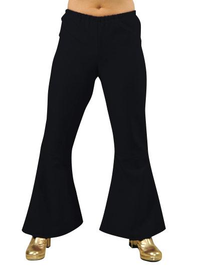 Disco Deguisement Femme 70 ' s Ladies évasés pantalon noir
