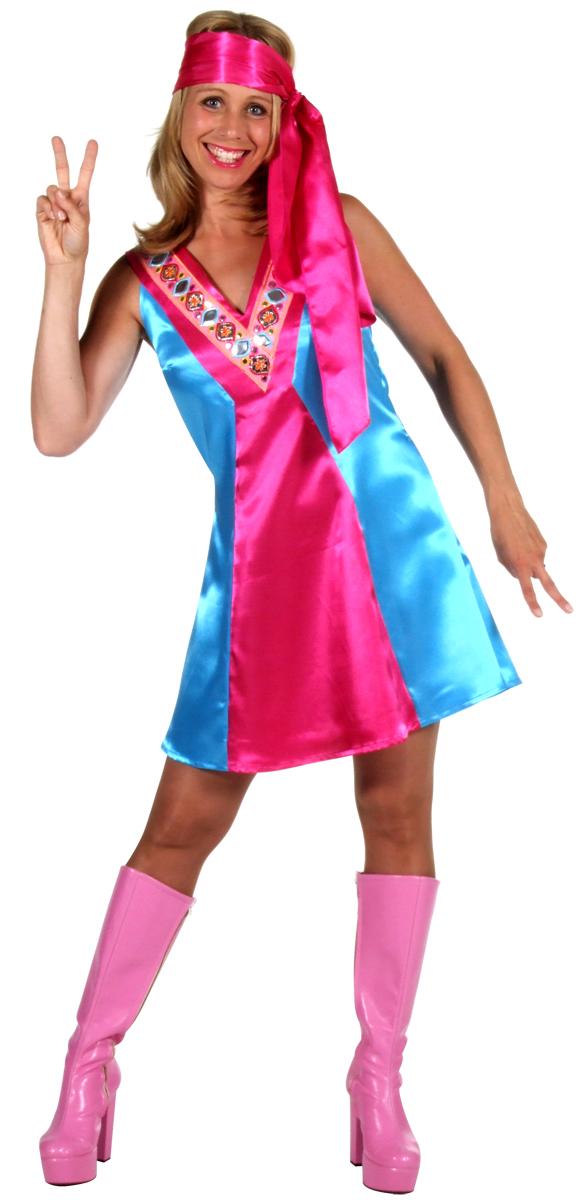 Disco Deguisement Femme Mesdames 70 s Satin robe de Go-Go