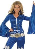 Costume de reine dansante bleu Disco Deguisement Femme