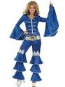 Disco Deguisement Femme Costume de reine dansante bleu
