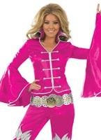 Costume de reine dansante rose Disco Deguisement Femme