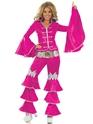 Disco Deguisement Femme Costume de reine dansante rose