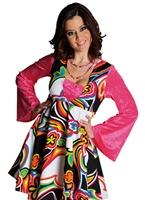 Costume Robe de luxe 70 ' s Fantasy Disco Deguisement Femme