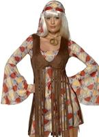 Bordées de Hippie 70 ' s robe Disco Deguisement Femme