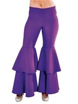 Pantalons pour femmes luxe Hippie violet Disco Deguisement Femme