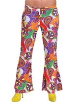 70 ' s Ladies évasés pantalon Design amusant Disco Deguisement Femme
