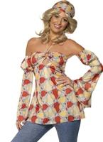 Costume hippie Vintage 70 ' s Disco Deguisement Femme