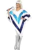 Poncho Super Trooper Disco Deguisement Femme