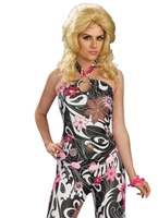 Costume de Funky Girl Mod 70 ' s Disco Deguisement Femme