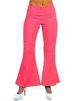 70 ' s Ladies évasés pantalon rose Disco Deguisement Femme